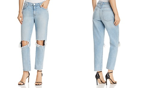 Current/Elliott The Fling Distressed Slim Boyfriend Jeans in Nova Destroy - Bloomingdale's_2