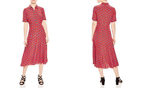 Sandro Lucette Floral Medallion Shirt Dress - Bloomingdale's_2