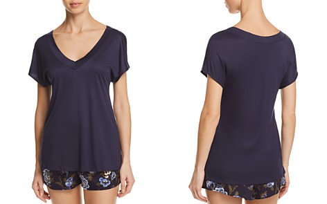 Hanro Zahra Short-Sleeve Sleep Top & Shorts - Bloomingdale's_2