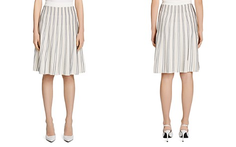Calvin Klein Striped Flare Skirt - Bloomingdale's_2