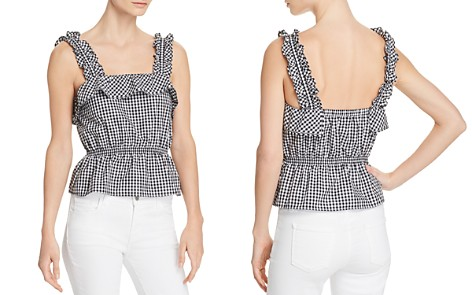 7 For All Mankind Ruffled Gingham Top - Bloomingdale's_2