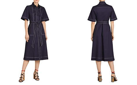 Burberry Carmen Topstitched Midi Shirt Dress - Bloomingdale's_2