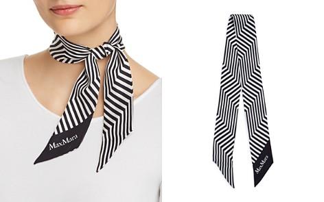 Max Mara Striped Silk Foulard Skinny Scarf - Bloomingdale's_2