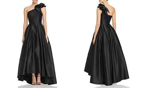 Avery G One-Shoulder Satin Ball Gown - Bloomingdale's_2