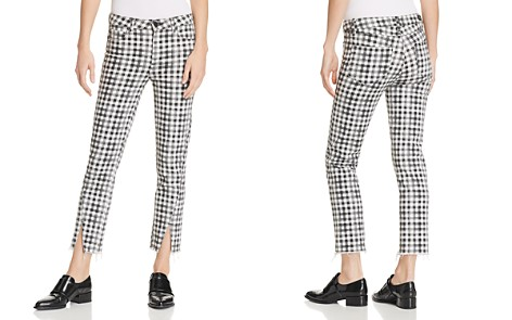 PAIGE Hoxton Ankle Straight Jeans in City Gingham - Bloomingdale's_2