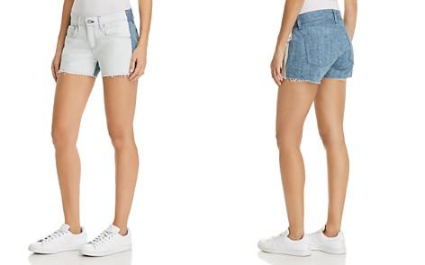 rag & bone/JEAN Cutoff Contrast Denim Shorts in Double Blues - Bloomingdale's_2