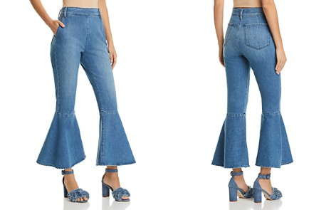 FRAME Flounce Cropped Flared Jeans in Copeland - Bloomingdale's_2