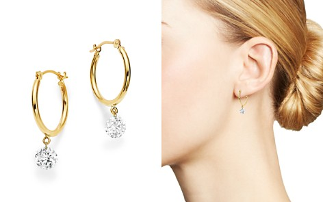 AeroDiamonds 18K Yellow Gold Diamond Dangle Hoop Earrings - Bloomingdale's_2