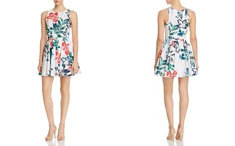 AQUA Botanical Print Fit-and-Flare Dress - 100% Exclusive - Bloomingdale's_2