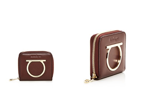 Salvatore Ferragamo Leather Zip Wallet - Bloomingdale's_2