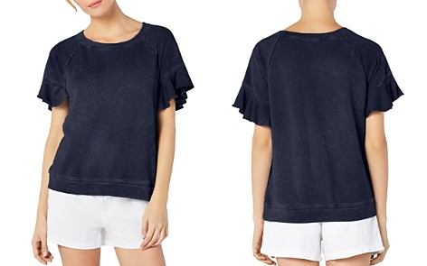 Michael Stars Ruffled Short-Sleeve Sweatshirt - Bloomingdale's_2