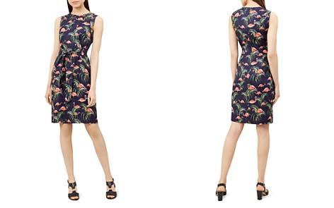 HOBBS LONDON Amalfi Flamingo Print Linen Dress - Bloomingdale's_2