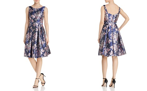 Eliza J Floral Jacquard Dress - Bloomingdale's_2