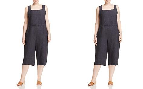 Eileen Fisher Plus Organic Linen Wide-Leg Crop Jumpsuit - Bloomingdale's_2