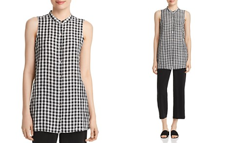 Eileen Fisher Gingham Organic Cotton Tunic - Bloomingdale's_2