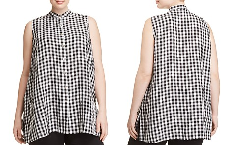 Eileen Fisher Plus Gingham Organic Cotton Tunic - Bloomingdale's_2