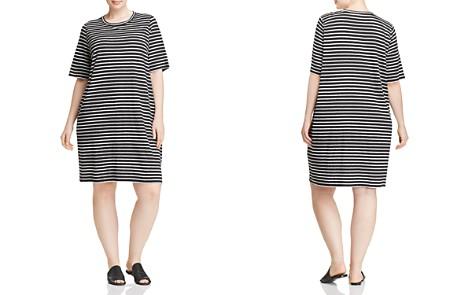 Eileen Fisher Plus Striped Organic Linen Dress - Bloomingdale's_2