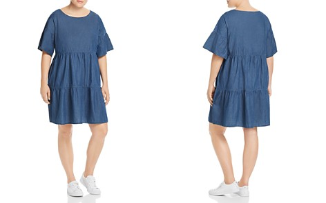 JUNAROSE Plus Tiered Denim Dress - Bloomingdale's_2