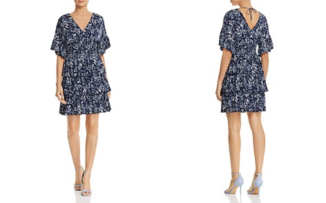 MICHAEL Michael Kors Micro-Floral Tiered Ruffle Dress - 100% Exclusive - Bloomingdale's_2