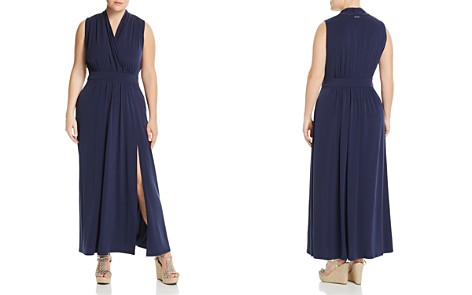 MICHAEL Michael Kors Plus Sleeveless Crossover Maxi Dress - Bloomingdale's_2