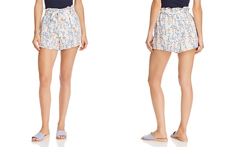 AQUA Floral Paperbag-Waist Shorts - 100% Exclusive - Bloomingdale's_2