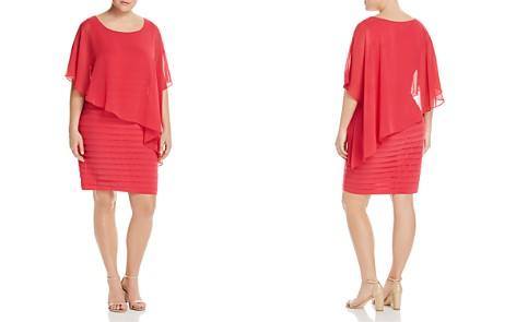 Adrianna Papell Plus Sheer Cape Overlay Dress - Bloomingdale's_2