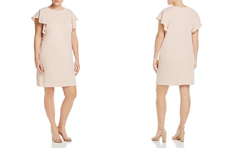 Adrianna Papell Plus Flutter-Sleeve Shift Dress - Bloomingdale's_2