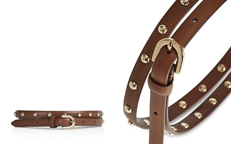 REISS Degas Studded Leather Belt - Bloomingdale's_2