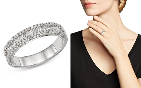 Bloomingdale's Pavé & Channel-Set Diamond Band in 14K White Gold, 0.75 ct. t.w. - 100% Exclusive _2