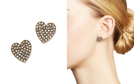 SUEL Blackened 18K Rose Gold Heart Diamond Earrings - Bloomingdale's_2