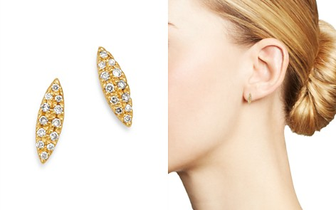 SUEL 18K Yellow Gold Diamond Marquise Earrings - Bloomingdale's_2