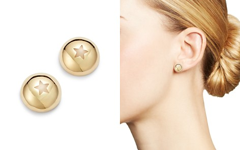 SUEL 14K Yellow Gold Domed Star Earrings - Bloomingdale's_2