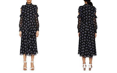 Ted Baker Hilaina Love Birds Cold-Shoulder Dress - Bloomingdale's_2