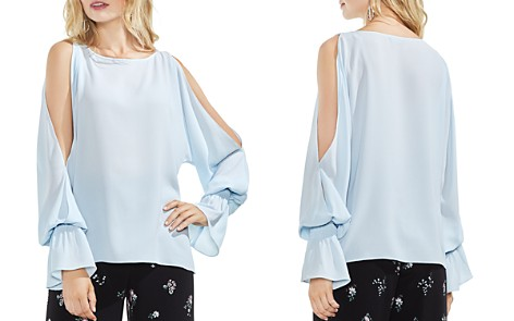 VINCE CAMUTO Cold-Shoulder Flare-Cuff Top - Bloomingdale's_2