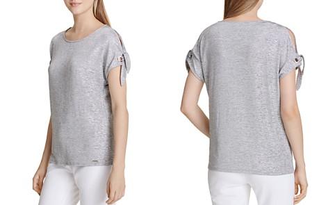 Calvin Klein Tie-Sleeve Tee - Bloomingdale's_2