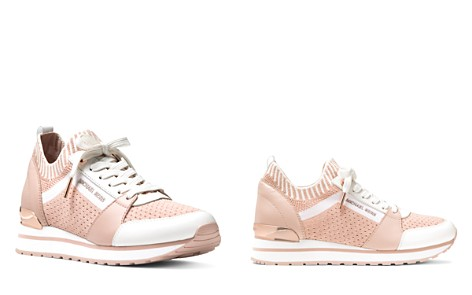 MICHAEL Michael Kors Women's Billie Knit Trainer Lace Up Sneakers - Bloomingdale's_2