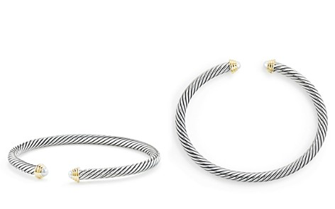 David Yurman Cable Kids Birthstone Bracelet with Cultured Freshwater Pearls & 14K Gold - Bloomingdale's_2