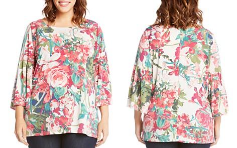 Karen Kane Plus Floral Bell-Sleeve Top - Bloomingdale's_2