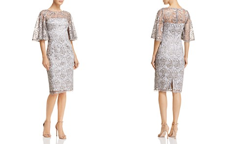Adrianna Papell Metallic Lace Dress - Bloomingdale's_2