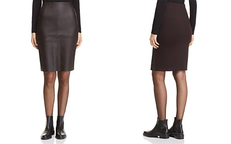Weekend Max Mara Salima Leather & Contrast Back Pencil Skirt - Bloomingdale's_2