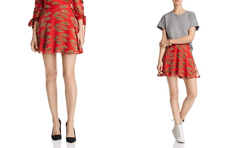Alice + Olivia Blaise Lips Burnout Mini Skirt - Bloomingdale's_2
