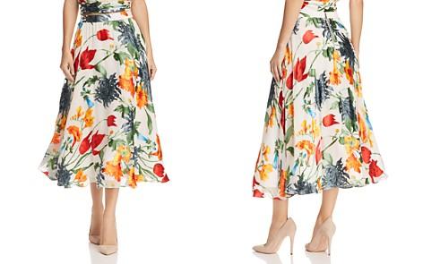 Alice + Olivia Earla Floral Burnout Midi Skirt - Bloomingdale's_2