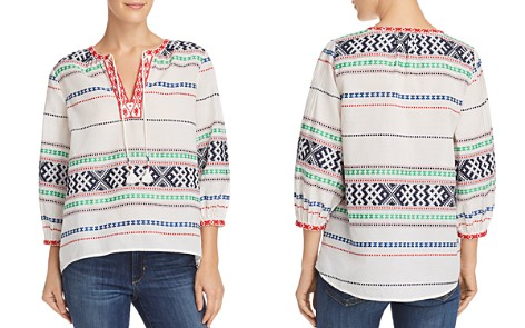 Joie Jenollina Embroidered Tunic Top - Bloomingdale's_2