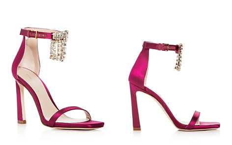 Stuart Weitzman Women's 100Fringesquarenudist Satin Embellished High-Heel Ankle Strap Sandals - Bloomingdale's_2