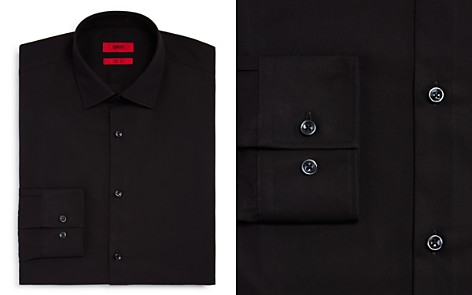 HUGO Solid Slim Fit Dress Shirt - Bloomingdale's_2