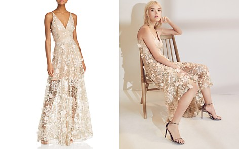 Dress the Population Sidney Floral Illusion Gown - Bloomingdale's_2