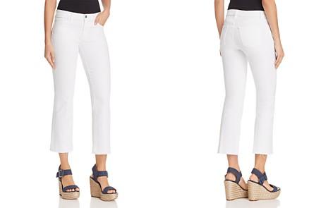 J Brand Selena Mide Rise Crop Bootcut Jeans in Blanc - Bloomingdale's_2