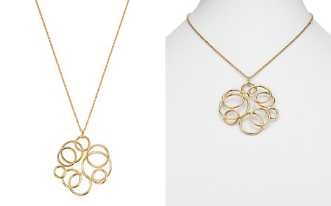"""Bloomingdale's Polished Circle Cluster Pendant Necklace in 14K Yellow Gold, 17.75"""" - 100% Exclusive _2"""