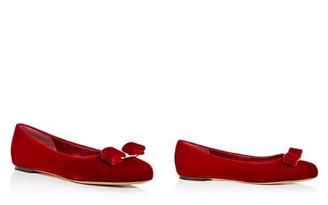 Salvatore Ferragamo Women's Varina Velvet Ballet Flats - Bloomingdale's_2