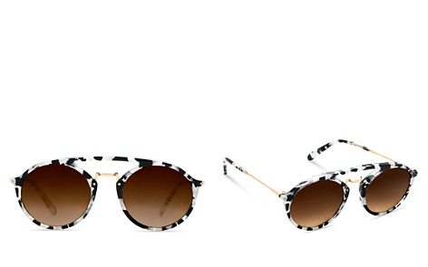 Krewe Marigny 24K Gradient Round Sunglasses, 50mm - Bloomingdale's_2